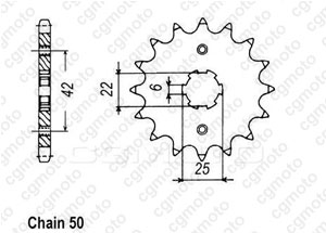 Front sprocket Cb 250 Twin/N 78-82
