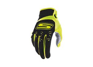 Gloves Cross Black-Yellow