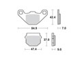 Brake pads scooter SBS 101HF