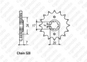 Front sprocket Honda Cr 79-85