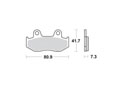 Brake pads scooter SBS 104HF
