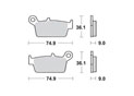 Brake pads scooter SBS 121HF