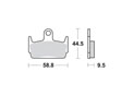 Brake pads scooter SBS 129HF