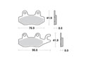 Brake pads scooter SBS 134MS