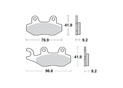 Brake pads scooter SBS 163HF