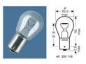 BOX OF 10 12V-21W / STOP LIGHT BULBS BA15S FITMENT