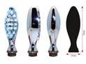 BIHR Elipse LED Indicators chromed Metal Universal