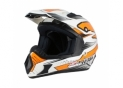 S813 Cross helmet White Orange