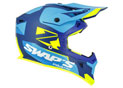 Cross Helmet S818 Blur Blue Yellow