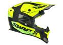 Cross Helmet S818 Blur Black Yellow Green