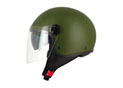 Half Jet S706 Green Army - Double visor
