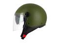 S706 Halfjet Green Army - Double visor