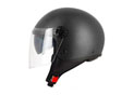S706 Halfjet Flat black - Double visor