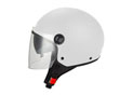 Half Jet S706 shiny white - Double visor