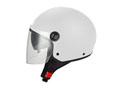 S706 Halfjet shiny white - Double visor