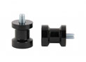 Swingarm spool black Alu Ø6mm x1.25