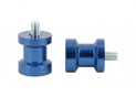 Swingarm spool Alu Blue Ø6mm x1.25