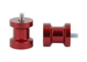 Swingarm spool Alu red Ø8mm x1.25