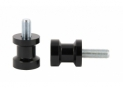 Swingarm spool black alu Ø10mm x1.25