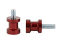 Swingarm spool Alu red Ø10mm x1.25