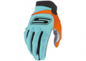 Cross gloves Blue & Fluo Orange  CE 1KP homologated