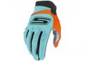 Cross gloves Blue & Fluo Orange  CE 1KP homologated