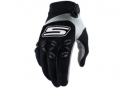 Cross gloves Black & White  CE 1KP homologated