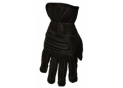 Luxury black leather gloves