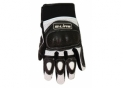 Gloves Leather/Lycra Black/White Driving