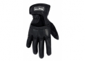 Gloves 830 Leather Fabric Black