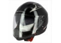 Open face XOVER S703 Black Glossy