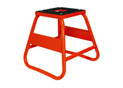 Orange cross motorcycle lift with rubber top plate