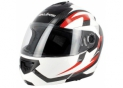 Flip up helmet S520 White Red