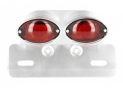 Rear light Oval + plate stand