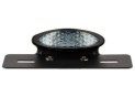 Black Led Oval Led Rear light Kit with White Cabochon and Plate Holder