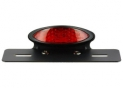 Black Led Oval Led Rear light Kit with Red Cabochon and Plate Holder