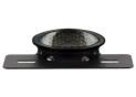 Black Led Oval Led Rear light Kit with Smoked Cabochon and Plate Holder