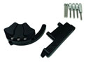 CNC protection kit for covers - black MT-07 14-16 Left and right