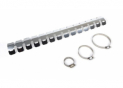 Exhaust protection 2 stroke chrome