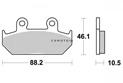 Brake pad Kyoto Semi-sintered metal