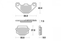 Brake pad Kyoto Semi-sintered metal