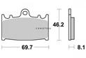 Brake pad Vesrah Racing - VD344RJL