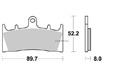 Brake pad Vesrah Racing - VD349RJL