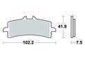 Brake pad Vesrah Racing Sintered metal Racing - VD9031RJL