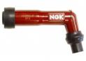 Spark plug cap NGK XD05F-R dark red